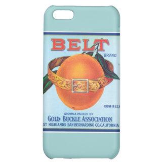 Belt Orange Vintage Label iPhone 5C Cover