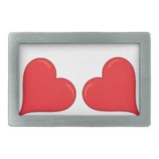 Belt to holder - heart rectangular belt buckle