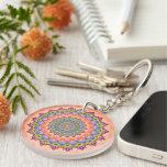 Beltain Blooom Mandala Art Acrylic Keychain
