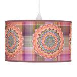 Beltane Bloom Kaleidoscope Mandala Ceiling Lamp