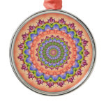 Beltane Bloom Kaleidoscope Mandala Metal Ornament
