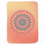 Beltane Bloom Kaleidoscope Mandala Stroller Blanket