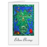 Beltane Green Man Greeting card