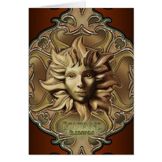 Beltane Sun Sprite Greetings Card