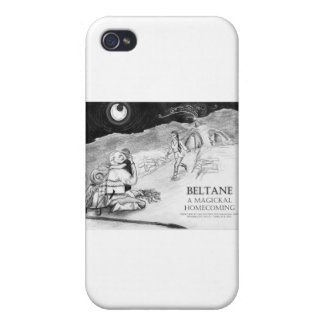 Beltane un diseño #1 del regreso al hogar de Magic iPhone 4 Carcasa