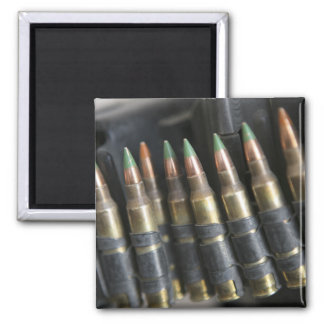 Belted bullets for an M-249 squad automatic wea 2 Inch Square Magnet