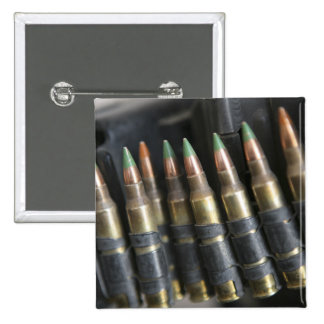 Belted bullets for an M-249 squad automatic wea 2 Inch Square Button