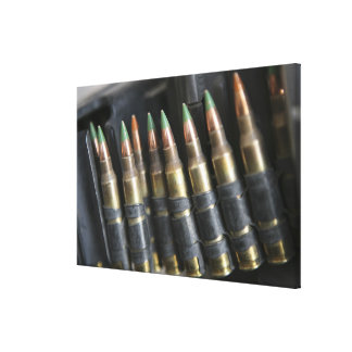 Belted bullets for an M-249 squad automatic wea Stretched Canvas Print