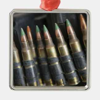 Belted bullets for an M-249 squad automatic wea Metal Ornament
