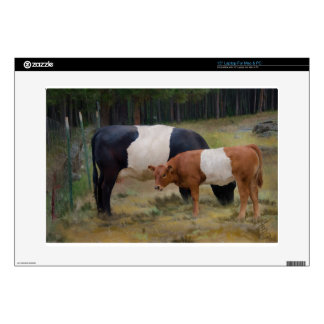 Belted cow and calf with texture laptop skins