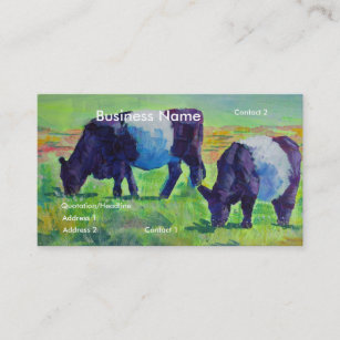 Belted galloway business cards templates zazzle belted galloway cow dartmoor art business cards colourmoves