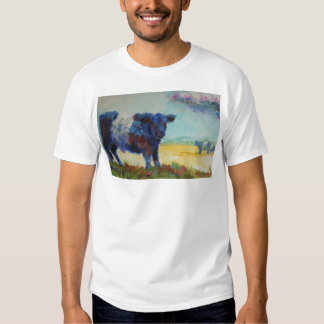 Belted galloway cow on dartmoor painting T-Shirt