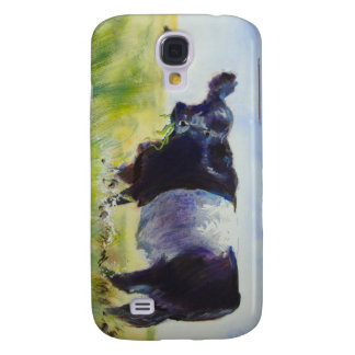 Belted Galloway Cow Painting Samsung Galaxy S4 Cover