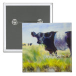 Belted Galloway Cow Painting Pin