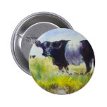 Belted Galloway Cow Painting Pinback Buttons