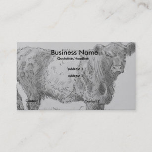 Belted galloway business cards templates zazzle belted galloway cow pencil drawing business cards colourmoves