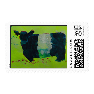 Belted Galloway Cow with white stripe Postage
