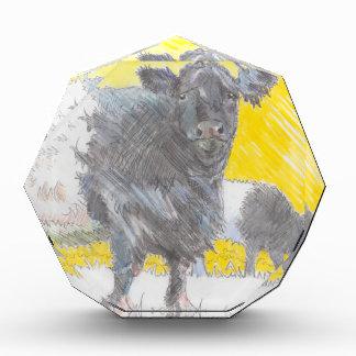 Belted Galloway Cows Drawing Acrylic Award