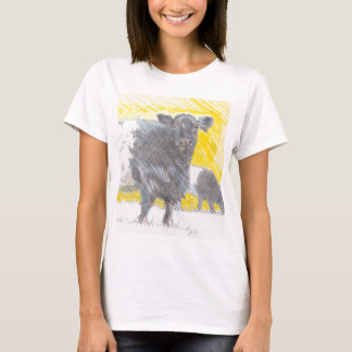 Belted Galloway Cows Drawing T-Shirt