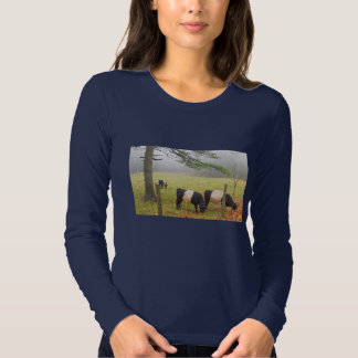Belted Galloway Cows On Farm In Rockport Maine Shirts