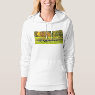 Belted Galloway Cows On Rockport Maine Farm Hoodie