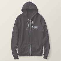 Belted Galloway Embroidered Hoodie