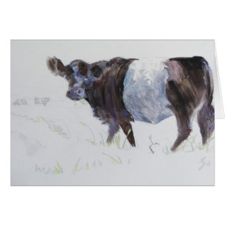 Belted Galloway Painting The White Stripe Greeting Cards
