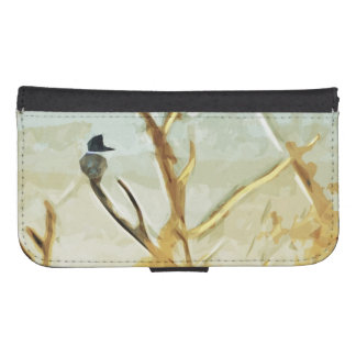 Belted Kingfisher at Rivers Edge Abstract Samsung S4 Wallet Case