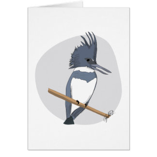 Belted Kingfisher Birding Card
