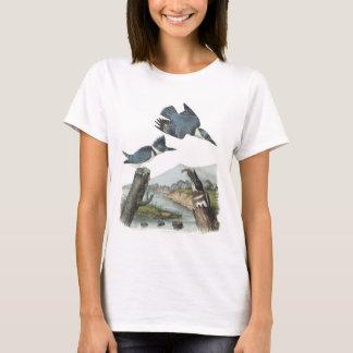Belted Kingfisher by Audubon T-Shirt