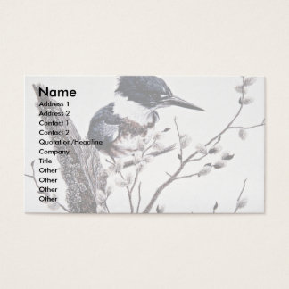 Belted kingfisher (female) business card
