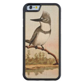 Belted Kingfisher Illustration Carved® Maple iPhone 6 Bumper Case