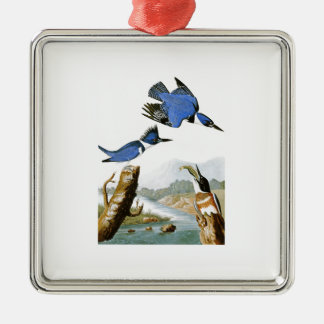 Belted Kingfisher John Audubon Birds of America Metal Ornament