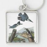 Belted Kingfisher, John Audubon Keychain