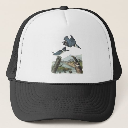 Belted Kingfisher, John Audubon Trucker Hat