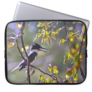 Belted Kingfisher laptop sleeve