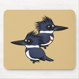 Belted Kingfisher pair Mouse Pad