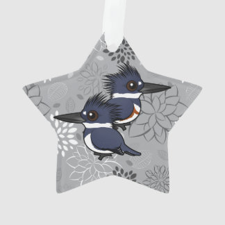 Belted Kingfisher pair Ornament