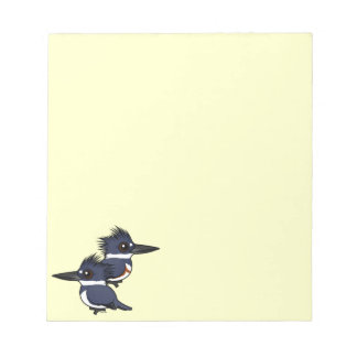 Belted Kingfisher pair Scratch Pad