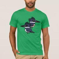Belted Kingfisher Pair Men's Basic American Apparel T-Shirt