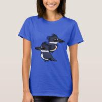 Belted Kingfisher Pair Women's Basic T-Shirt