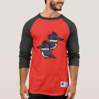 Belted Kingfisher Pair Men's Champion Raglan 3/4 Sleeve Shirt