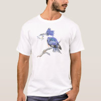 Belted Kingfisher - with fish - Bird Collection T-Shirt