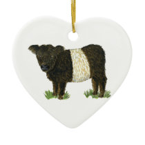 'Beltie' Belted Galloway Ceramic Ornament
