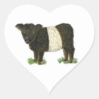 'Beltie' Belted Galloway Heart Sticker