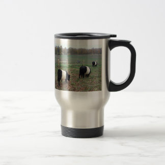 Beltie Cow Herd Along a Trail 15 Oz Stainless Steel Travel Mug