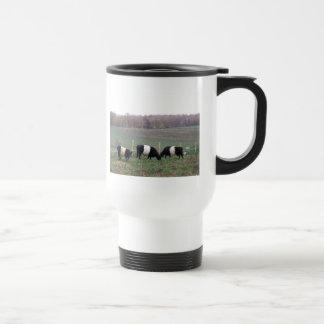 Beltie Cow Herd in Fall Coffee Mugs
