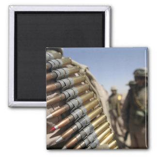 Belts of 50-caliber ammunition 2 inch square magnet
