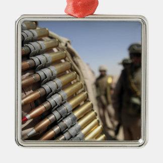 Belts of 50-caliber ammunition metal ornament