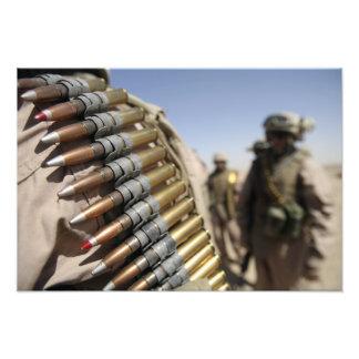 Belts of 50-caliber ammunition photo
